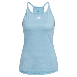 Women`s Performance Tank Hazy Blue Melange and White