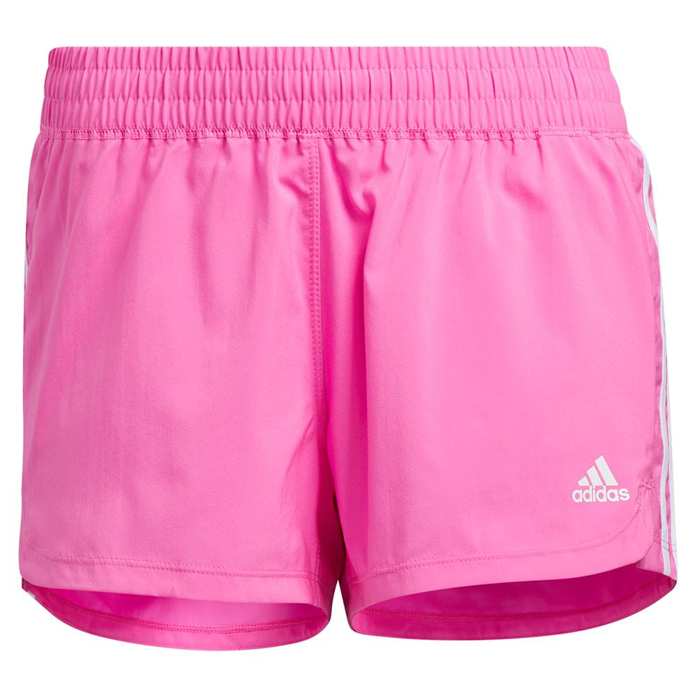 Women's Pacer 3- Stripe Woven Training Short Screaming Pink And White