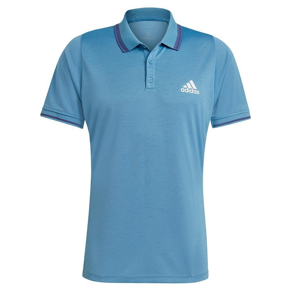 Men's Freelift Tennis Polo Hazy Blue And White
