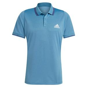 Men`s FreeLift Tennis Polo Hazy Blue and White