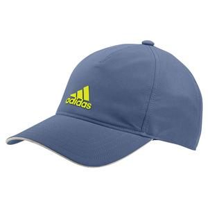 AEROREADY 4AT Tennis Cap Crew Blue and Acid Yellow
