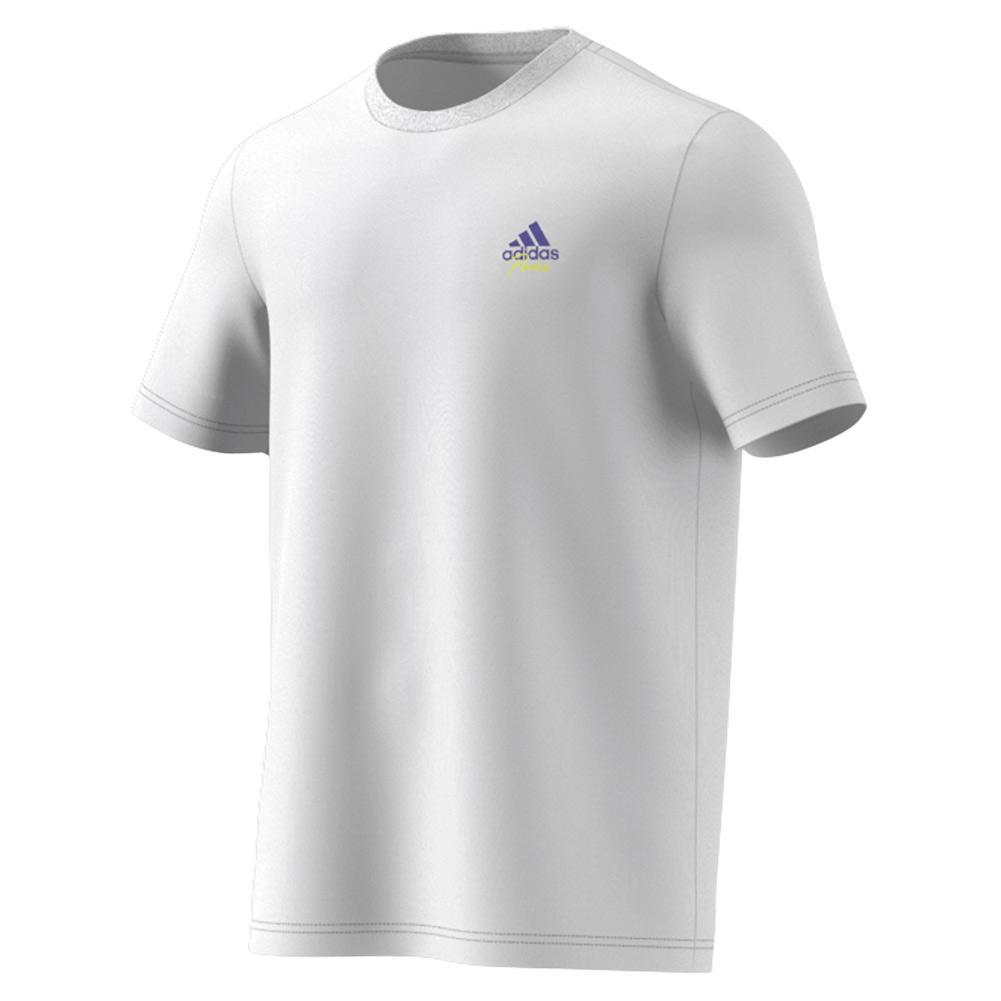 Men's Best Served Fast Graphic Logo Tennis Tee White