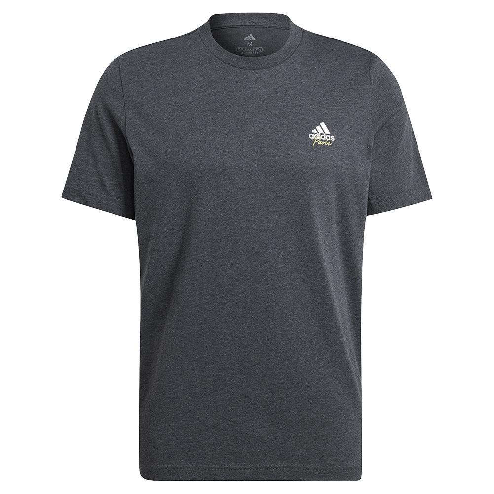 Men's Best Served Fast Graphic Logo Tennis Tee Dark Grey Heather
