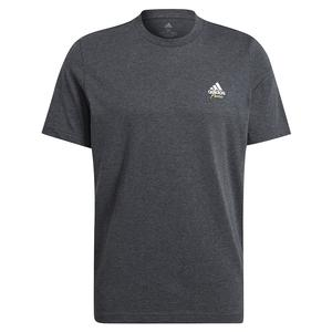 Men`s Best Served Fast Graphic Logo Tennis Tee Dark Grey Heather