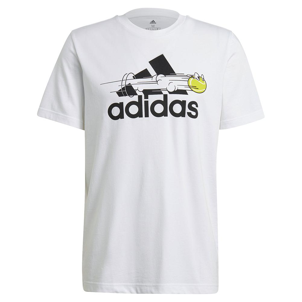 Men's Category Graphic Short Sleeve Tennis Tee White