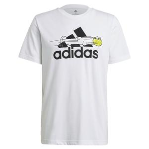 Men`s Category Graphic Short Sleeve Tennis Tee White