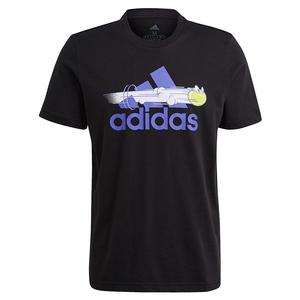 Men`s Category Graphic Short Sleeve Tennis Tee Black
