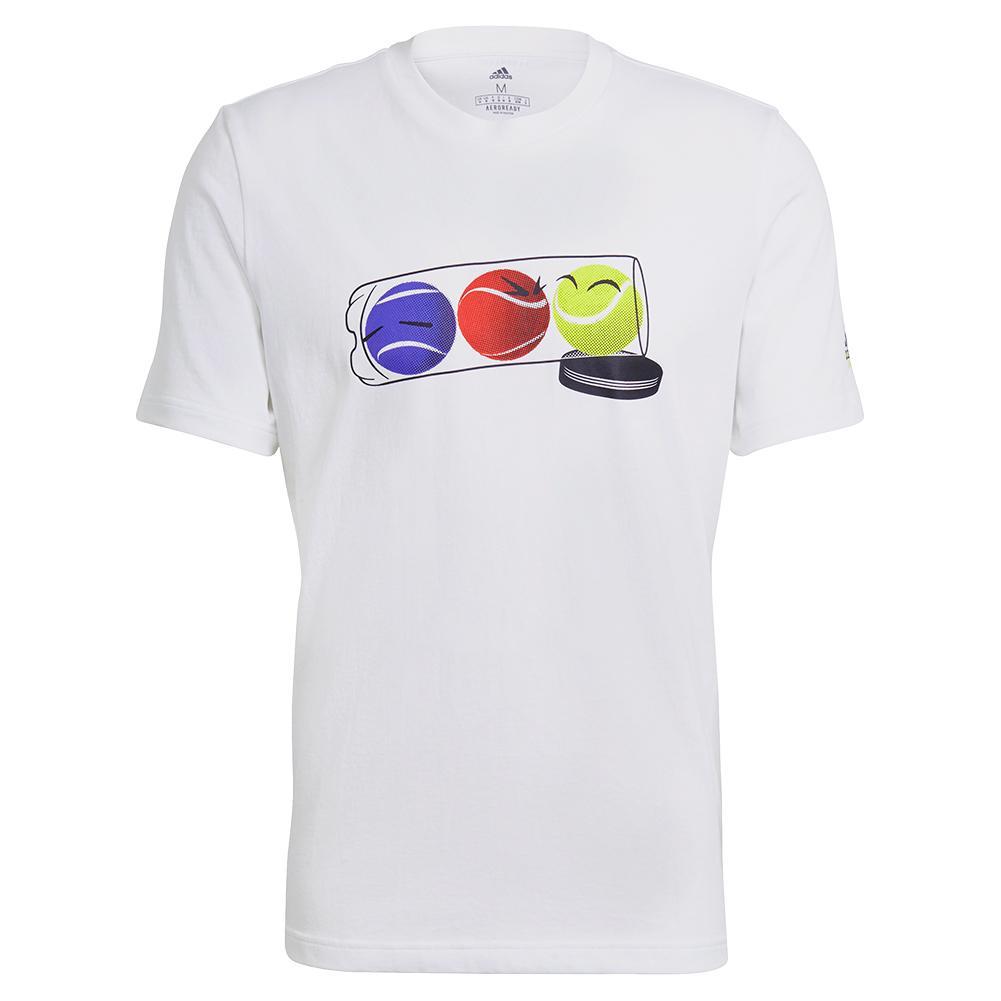 Men's Graphic Logo Tennis Tee White