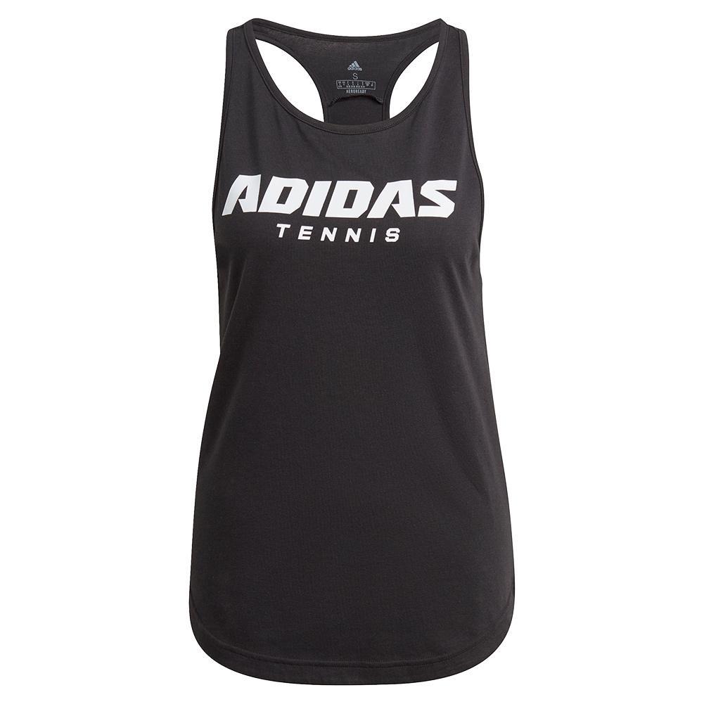 Women's Graphic Logo Tennis Tank Black