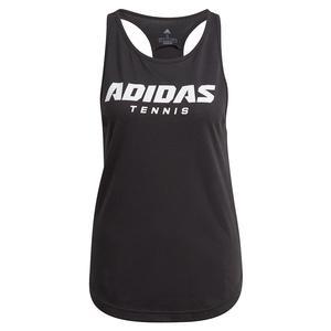Women`s Graphic Logo Tennis Tank Black