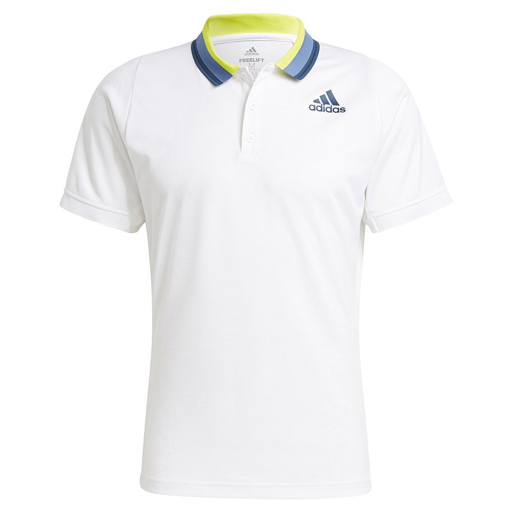 Men's Primeblue Heat.Rdy Freelift Tennis Polo White And Crew Navy