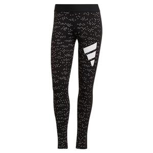 Women`s Sportswear 3-Bar All Over Print Leggings Black