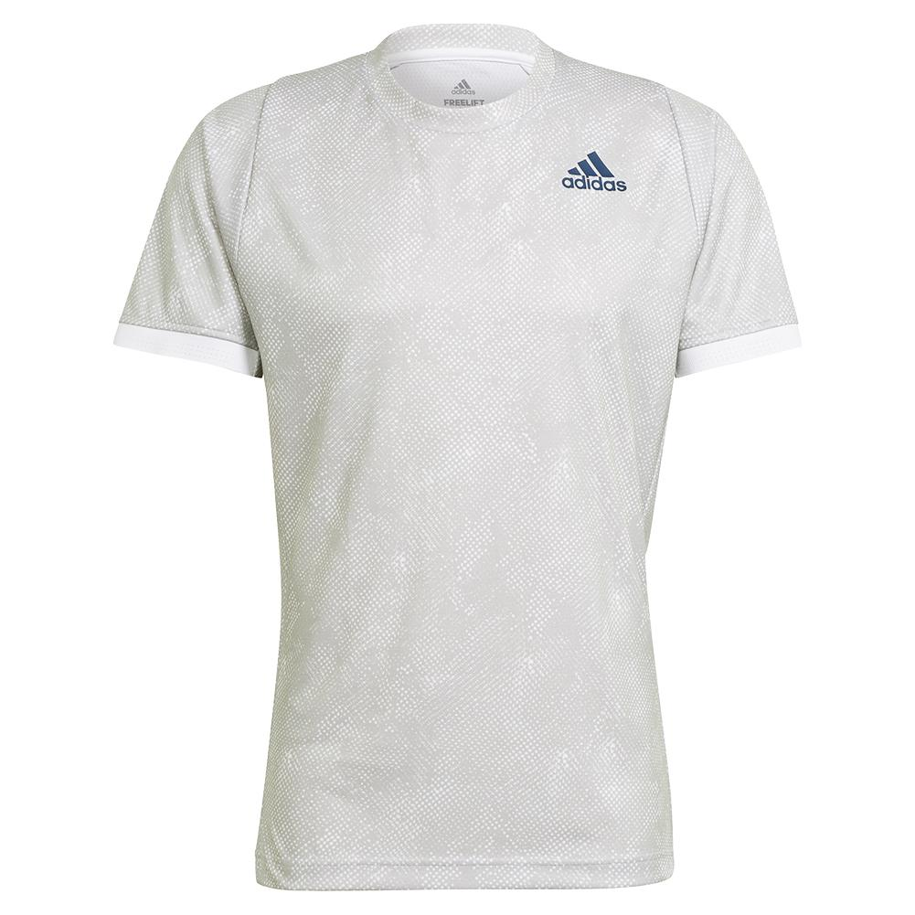 Men's Primeblue Heat.Rdy Freelift Tennis Top Grey Two And White