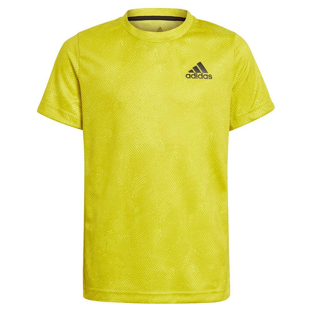 Boys ` Oz Tennis Top Acid Yellow And Wild Pine