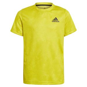 Boys` Oz Tennis Top Acid Yellow and Wild Pine