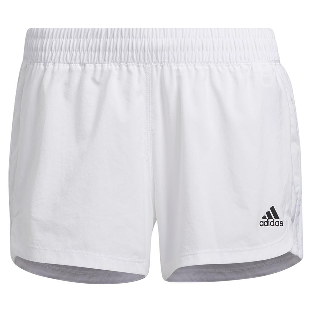 Women's Pacer 3- Stripe Woven Training Short White