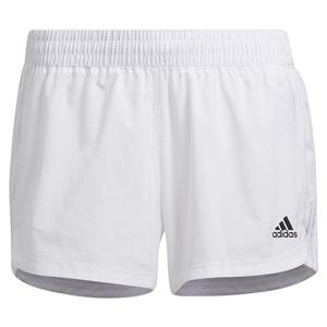 Women`s Pacer 3-Stripe Woven Training Short White