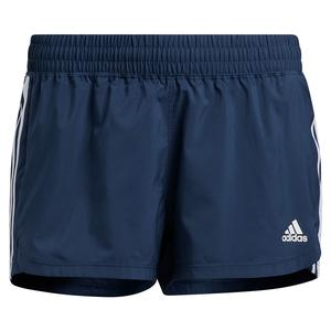 Women`s Pacer 3-Stripe Woven Training Short Crew Navy and White