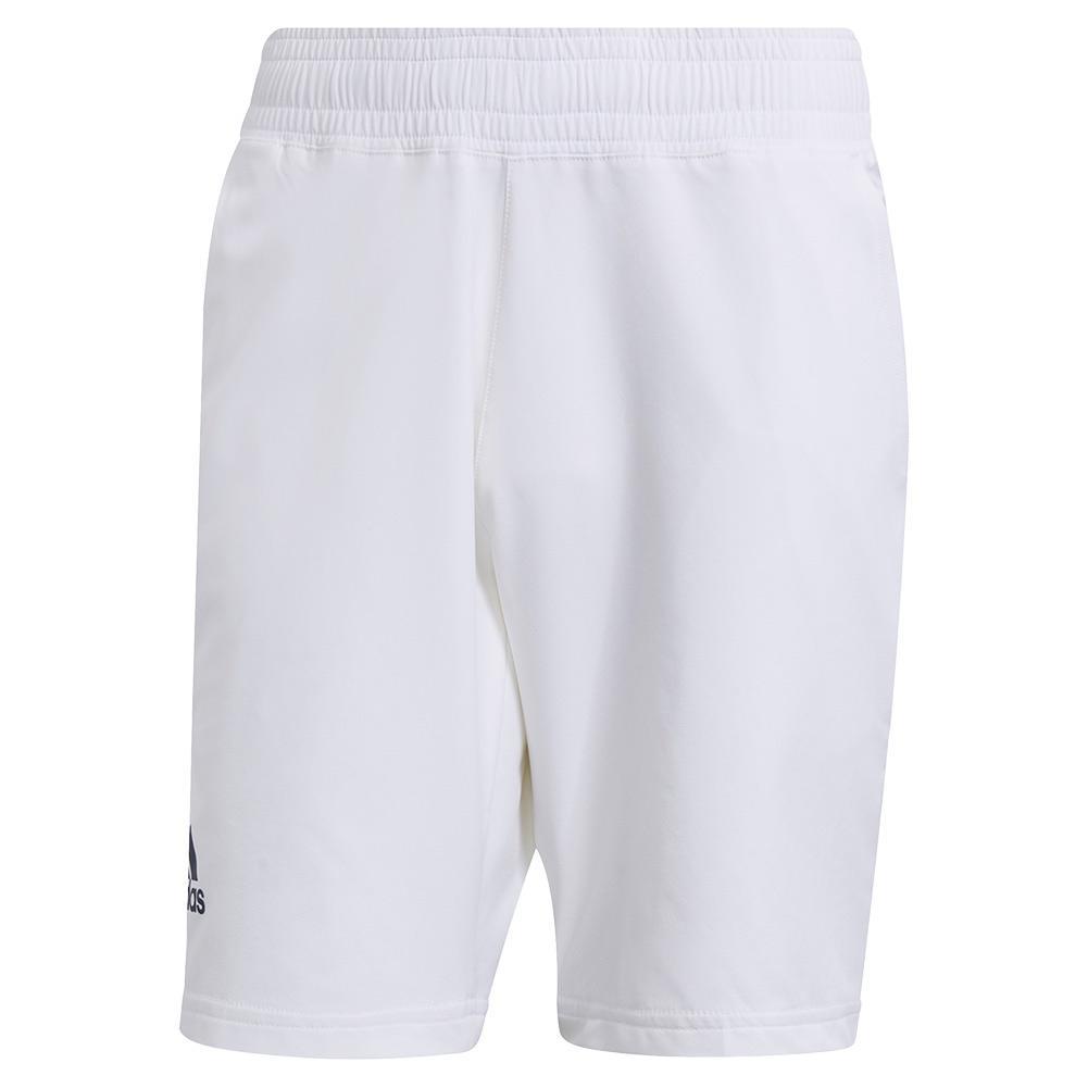Men's Primeblue Ergo 9 Inch Tennis Short White And Crew Navy