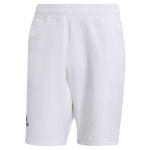 Men`s Primeblue Ergo 9 Inch Tennis Short White and Crew Navy