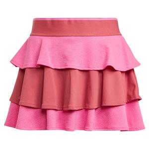 Girls` Pop Up Tennis Skort Screaming and Wild Pink