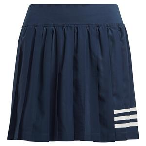 Women`s Club Pleated 14.5 Inch Tennis Skort Crew Navy and White