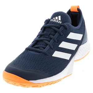 Men`s Court Control Tennis Shoes Crew Navy and Footwear White