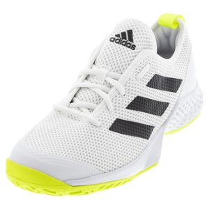 Men`s Court Control Tennis Shoes Footwear White and Core Black
