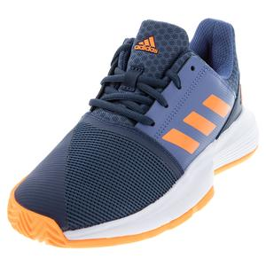 Juniors` CourtJam XJ Tennis Shoes Crew Navy and Screaming Orange