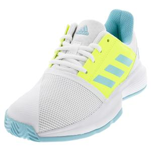 Juniors` CourtJam XJ Tennis Shoes Footwear White and Hazy Sky