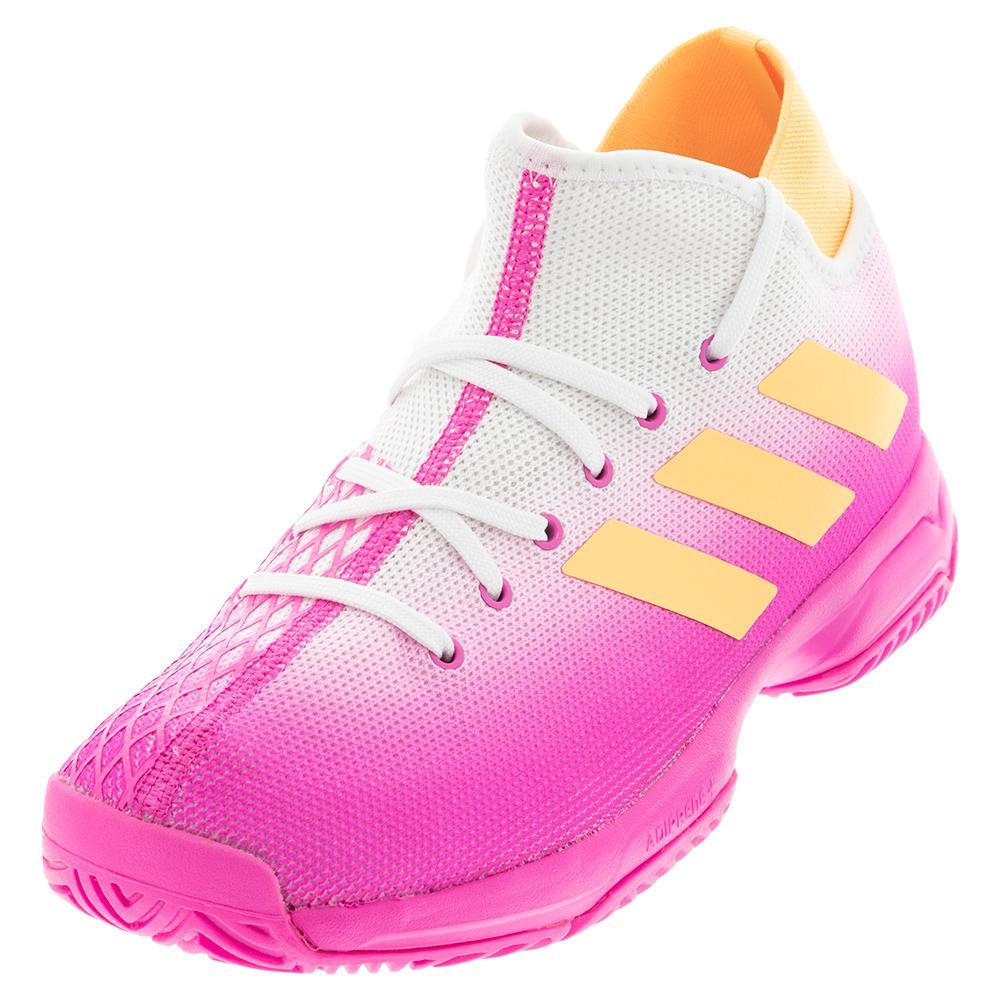 adidas Juniors` Phenom Tennis Shoes Pink & Orange