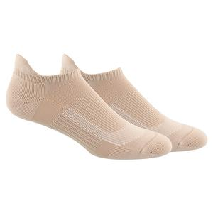 Women`s Superlite UB21 Tabbed No Show Socks 2-Pack Ash Pearl Pink and White
