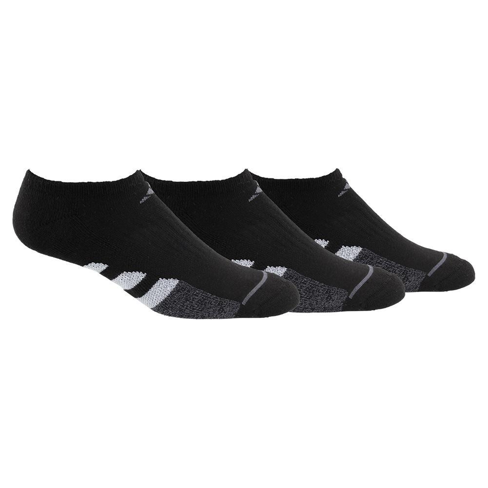 Women's Cushioned Ii No Show Socks 3- Pack Black And Onix