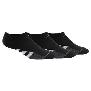 Women`s Cushioned II No Show Socks 3-Pack Black and Onix