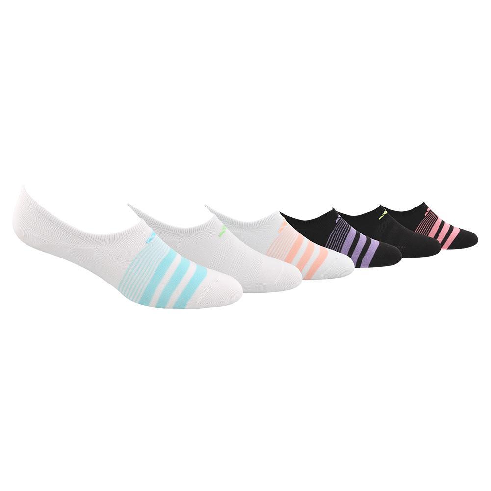 Girl ' S Superlite Super No Show Socks 6- Pack White And Black