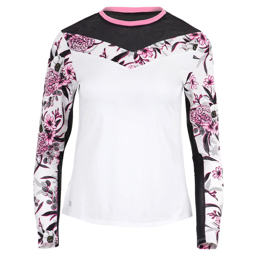 Women's Julie Long Sleeve Tennis Top Oahu Garden
