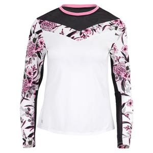 Women`s Julie Long Sleeve Tennis Top Oahu Garden