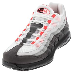 Men`s Vapor X Air Max 95` Tennis Shoes White and Black