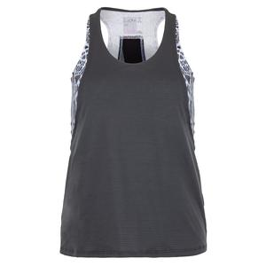 Women`s Party Animal Layer Tennis Tank Charcoal