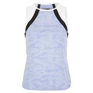 Women`s Bea Tennis Tank Sky Blue and White