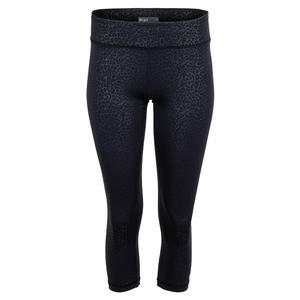 Women`s Cheetah Tennis Capri Black
