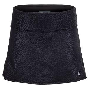 Women`s Cheetah Drill Tennis Skort Black