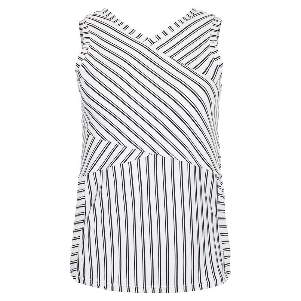 Women's Abrielle Tennis Tank Infinity Stripe