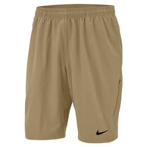Men`s Court NET Flex 11 Inch Tennis Short Parachute Beige and Black