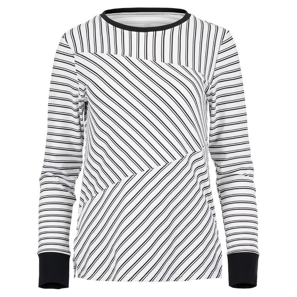 Women's Eustacia Long Sleeve Tennis Top Infinity Stripe