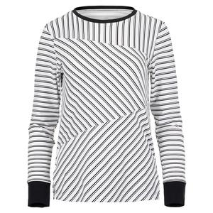 Women`s Eustacia Long Sleeve Tennis Top Infinity Stripe