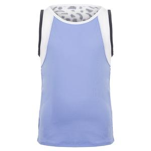 Girls` Party Animal Tennis Tank Glacier