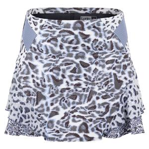 Women`s Long On The Prowl Tennis Skort Charcoal Leopard