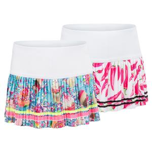 Girls` Print Pleated Tennis Skort