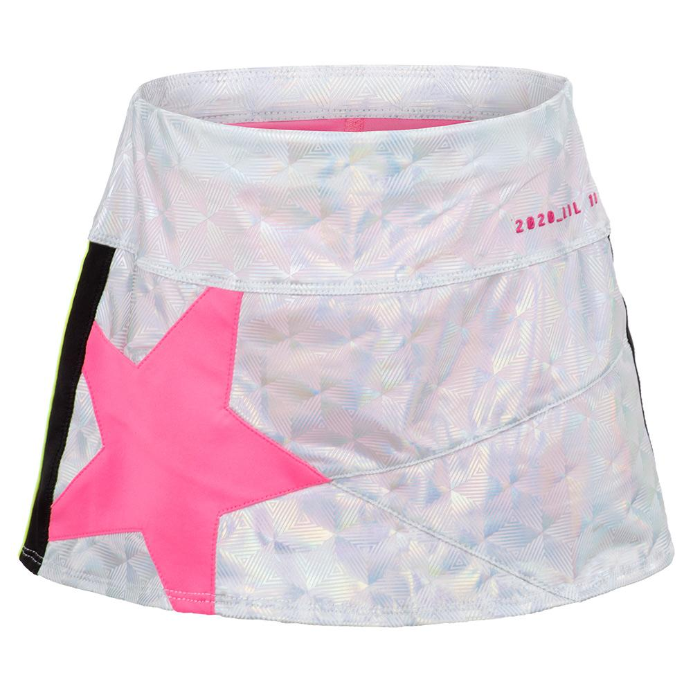 Girls ` Mini Super Star Tennis Skort Iridescence And Pink